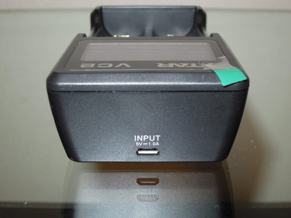 充電器マイクロUSB挿入口