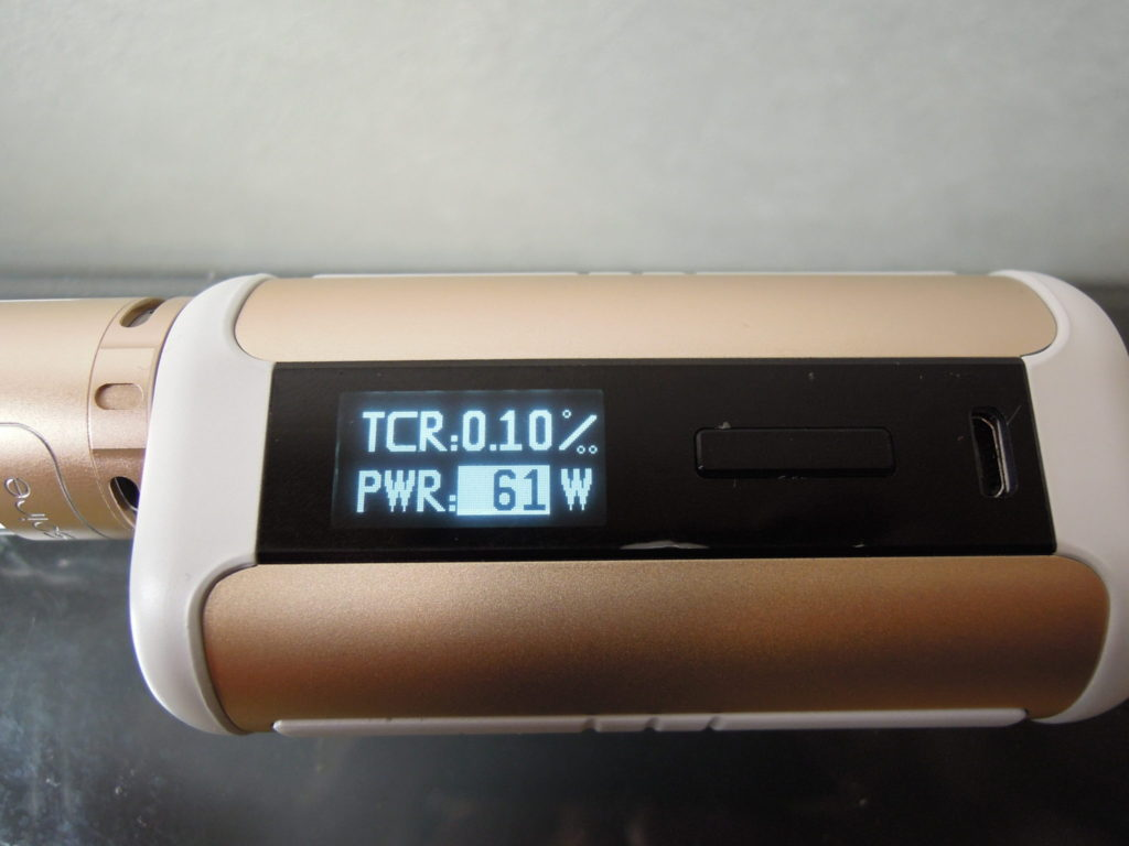 TCR設定画面